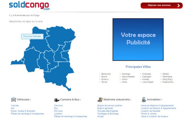 création d'un site web de petites annonces classées de type le bon coin.fr à paris et dans le finistère, pour le Congo