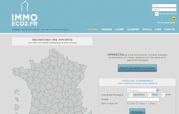 Création d'un site d'annonces immobilières écologiques