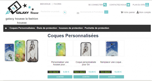 Audit d'un site e-commerce de vente de protections pour mobiles Samsung