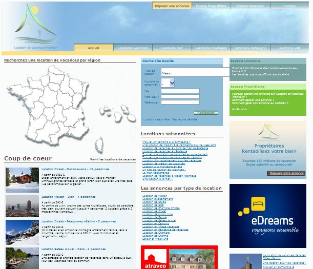 référencement d'un site de locations saisonnières
