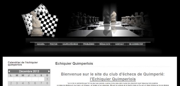Création du site internet d'un club d'échecs