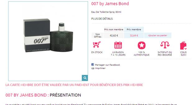 rédactionnels pour un site e-commerce de vente de parfum