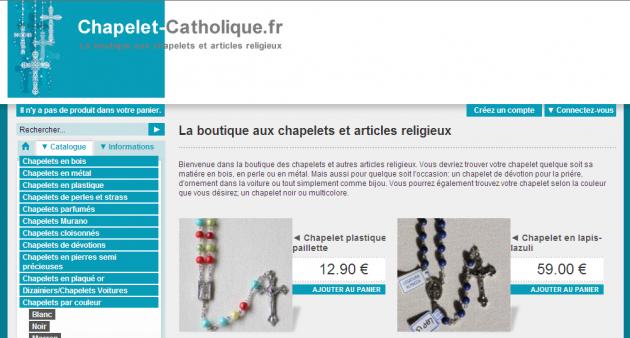 Rédaction des fiches produits d'un site e-commerce de vente de chapelets