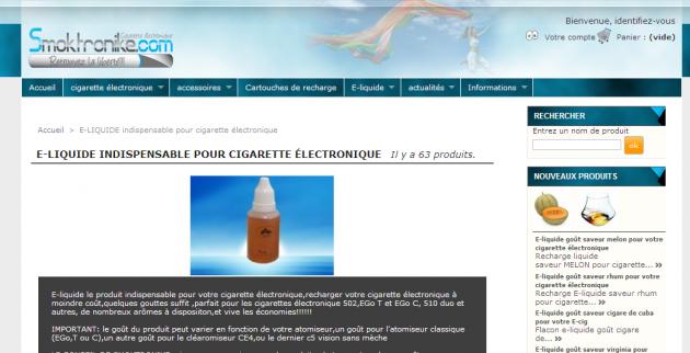 Référencer un site e-commerce spécialisé dans la cigarette électronique
