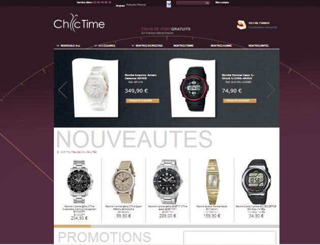 Référencement d'une boutique en ligne de vente de montres