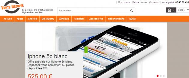 rédaction web pour un site marchand spécialiste du téléphone portable