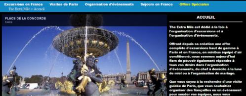 Création d'un site internet de tourisme et de séjours en France