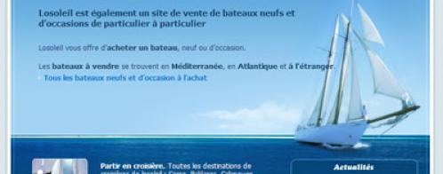 Création de site internet de location de bateaux