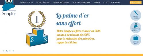 Audit SEO en ligne d'un site de rédaction de mémoires