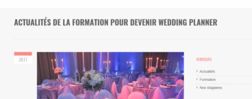 Rédactions pour un blog sur le métier de wedding planner