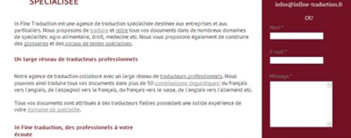 Audit d'un site de traduction professionnelle