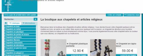 rédaction de fiches produits pour un site e-commerce lié à la religion