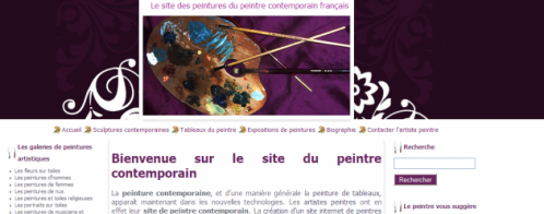 Optimisation d'un site vitrine d'un artiste peintre