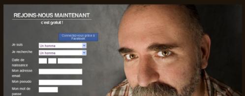 Contenu pour la page d'accueil d'un site de rencontres